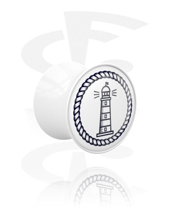 Tunely & plugy, Double Flared Plug s Lighthouse Design, Akryl