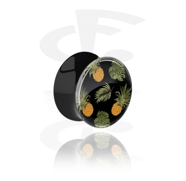 Double Flared Plug with Crazy Exotics Design