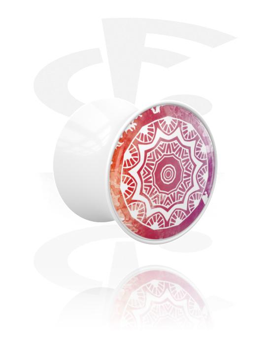 Tunely & plugy, Double Flared Plug s Mandala-Design, Akryl