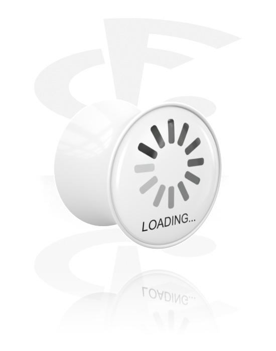 Tunely & plugy, Double Flared Plug s Crazy Error, Akryl
