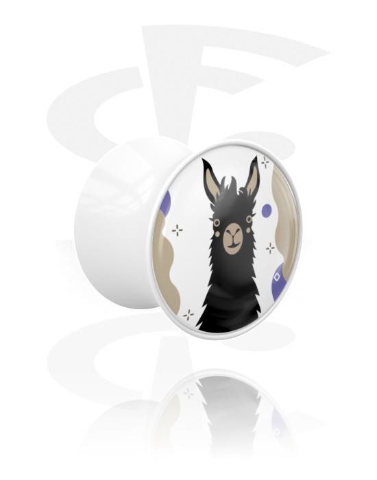 Tunely & plugy, Double Flared Plug s Alpaca Design, Akryl