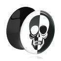 Tunnelit & plugit, Double Flared Plug kanssa Positive / Negative Design, Acrylic