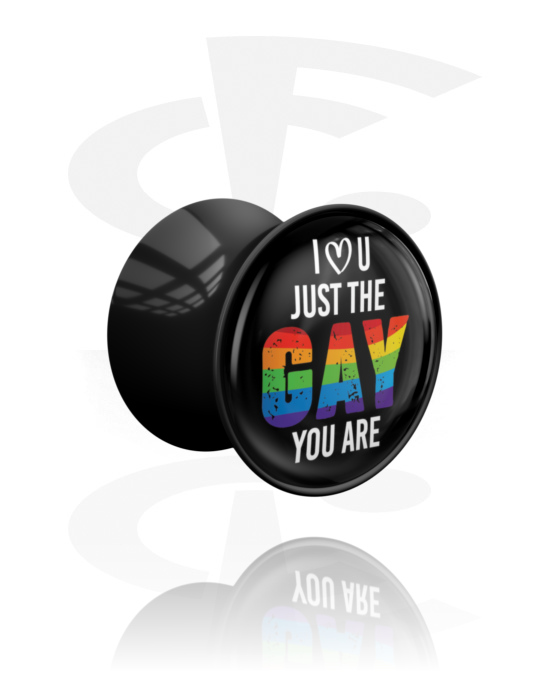 Tunely & plugy, Double Flared Plug s Pride! Design, Akryl