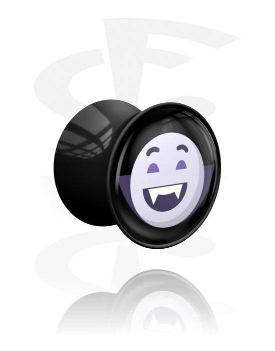 Tunely & plugy, Double Flared Plug s Halloween Design, Akryl