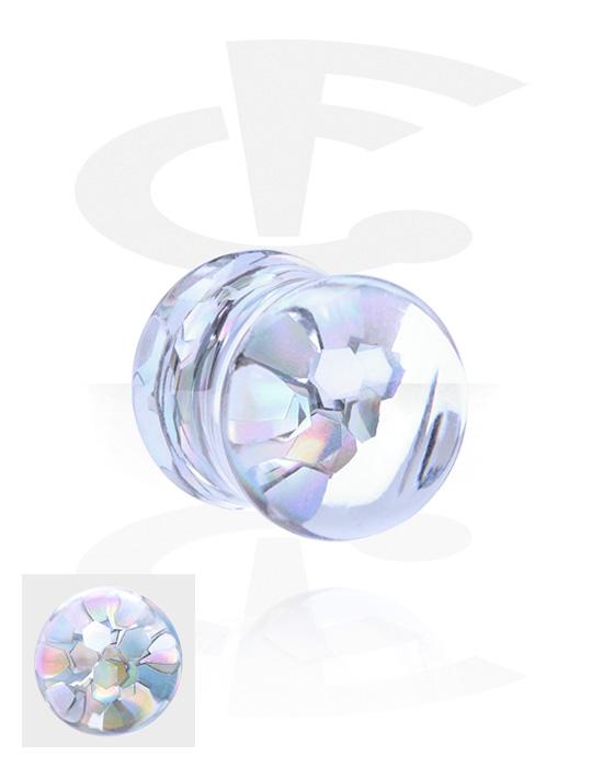 Tunnelit & plugit, Double Flared Glitter Plug, Akryyli