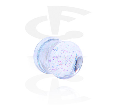 Tunnels & Plugs, Glitter Flared Plug, Acrylic