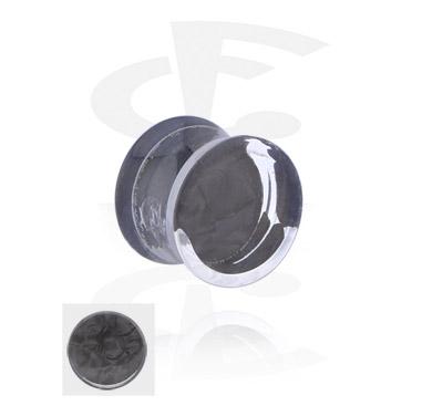 Double Flared Plug met parelmoer-inleg
