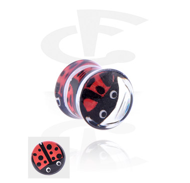 Tunnels & Plugs, Double Flared Plug, Acrylic