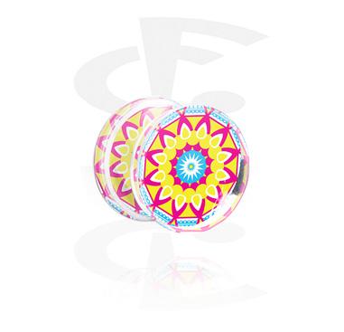 Double Flared Plug with Kaleidoscope Design