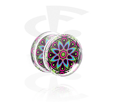 Double Flared Plug kanssa Kaleidoscope Design