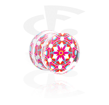 Double Flared Plug s Kaleidoscope Design