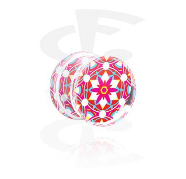 Plug con doble acampanado con Kaleidoscope Design