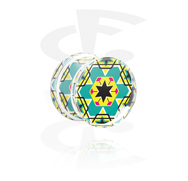 Double Flared Plug med Kaleidoscope Design