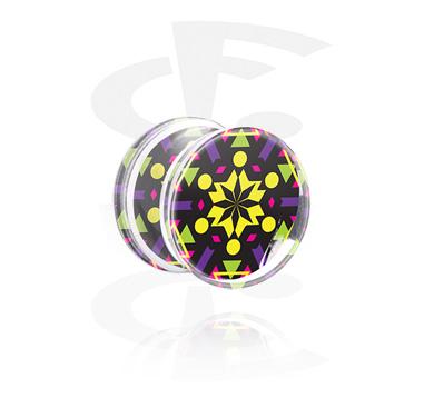 Double Flared Plug med Kaleidoskop-Design