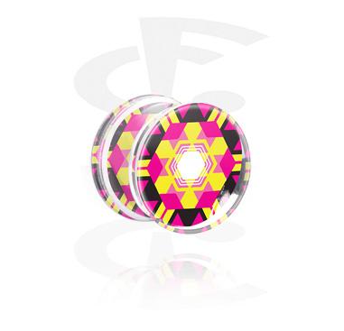 Double Flared Plug mit Kaleidoskop-Design