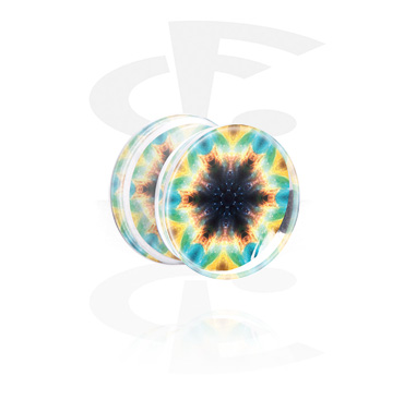 Double Flared Plug con Kaleidoscope Design