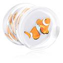 Tunnels & Plugs, Pluquarium with Clown-Fish-Nemo, Acrylic
