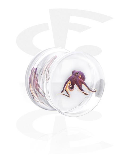 Tunnels & Plugs, Pluquarium with Octopus, Acrylic