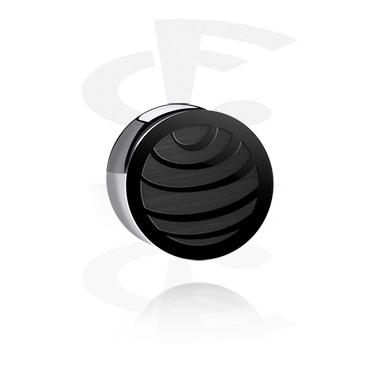 """Plug double flared noir - édition """"noir par CF"""""""