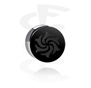 Plug double flared noir