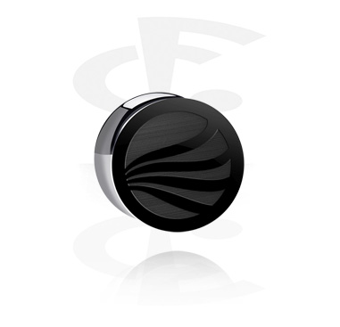 """Double Flared Plug """"BLACK BY CF""""-Edition"""