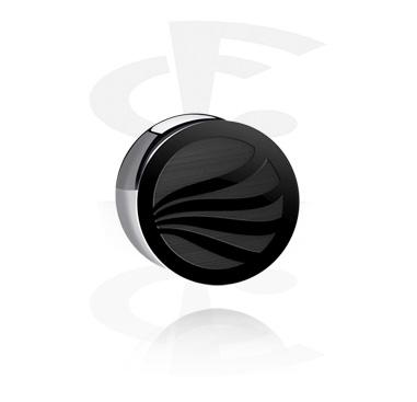 "Double flared plug, edição ""BLACK BY CF"""