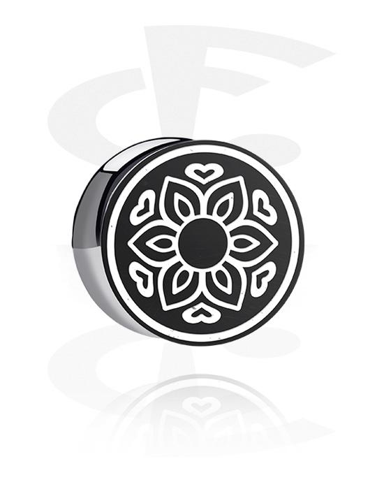Tunele & plugi, Double Flared Plug z lasered Geometric Design, Akryl