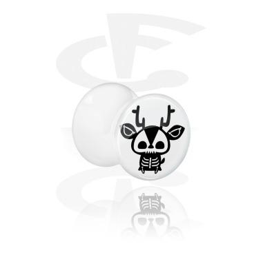 Double flared plug bianco con scheletro