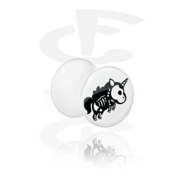 Double flared plug bianco con scheletro