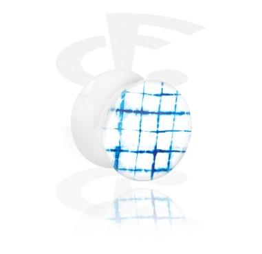 Двубортный плаг с blauem Batik-Design