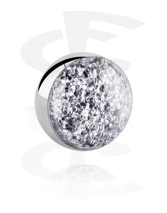 Palloja, nappeja ynnä muuta, Ball for 1.6mm Pins kanssa Glitter Design, Kirurginteräs 316L