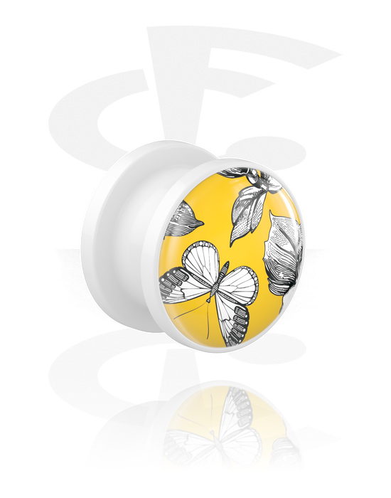 Tunely & plugy, Tunnel s Let it be Yellow Design, Akryl