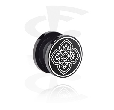 Tunnels & Plugs, Tunnel with lasered Geometric Design, Acrylic