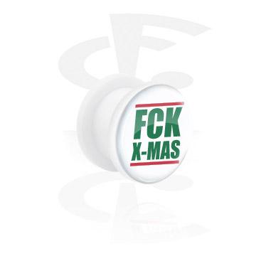 Tunele & plugi, White Tunnel z FCK X-MAS, Acrylic
