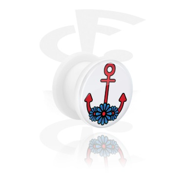 Tunnels & Plugs, Tunnel with Anchor Design, Acrylic