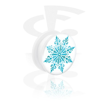 White Tunnel with Winter Snowflake Design