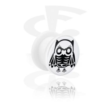 Tunnel bianco con Cute Skeletons Design e Screw