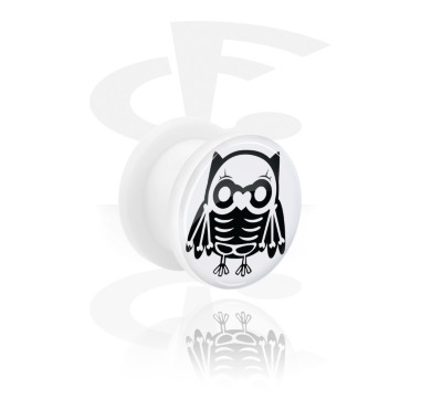 Tunnel blanc avec Cute Skeletons Design et Screw