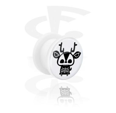 Túnel blanco con Cute Skeletons Design y Screw