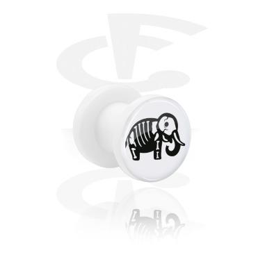 Tunnel blanc avec Cute Skeletons Design et Screw