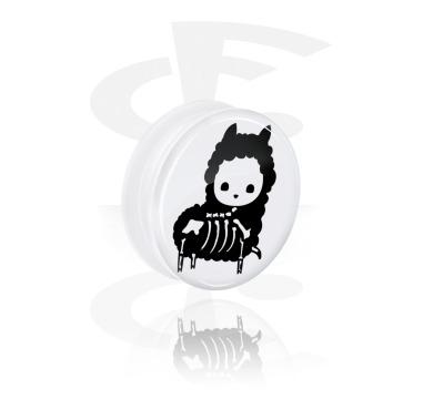 Túnel branco com design querido de esqueleto e rosca