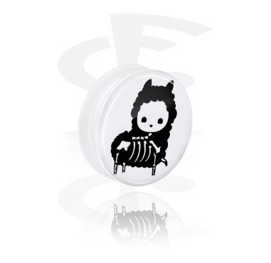 Vit Tunnel med Cute Skeletons Design och Screw