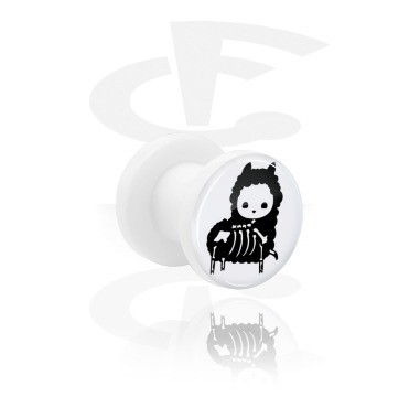 White Tunnel med cute skeleton design og Screw