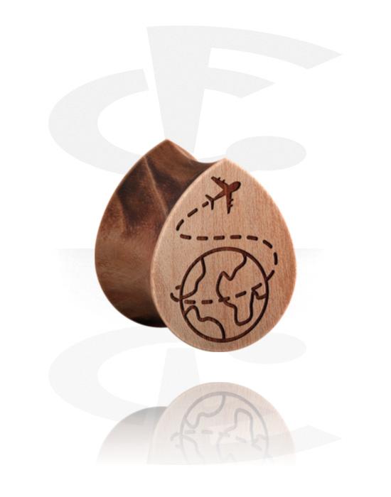 Tunnelit & plugit, Tear-Shaped Double Flared Plug, Puu