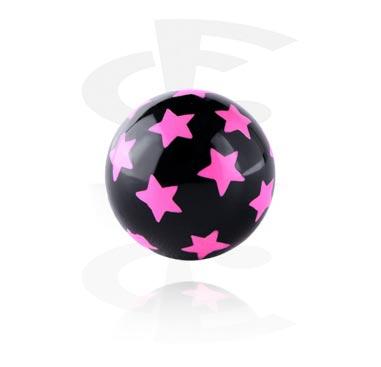 Kulki i inne zakończenia, Star Print Ball, Acryl