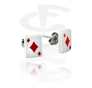 Diamonds Playing Card Studs