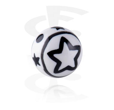 Balls & Replacement Ends, Threaded Ball - Star, Acryl
