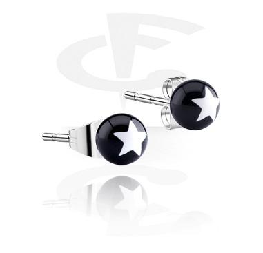 Boucles d'Oreilles, Boucles d'oreilles, Acier chirurgical 316L, Acrylique