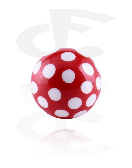 Kuličky, kolíčky a další, Round Print Ball, Acryl