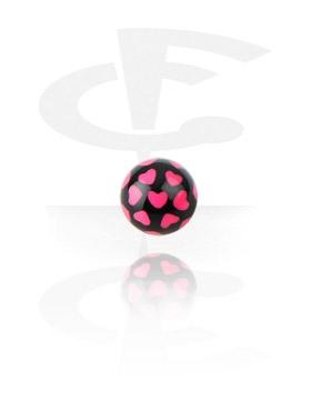 Bola con estampado de corazones